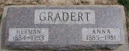 GRADERT, ANNA - Dixon County, Nebraska | ANNA GRADERT - Nebraska Gravestone Photos