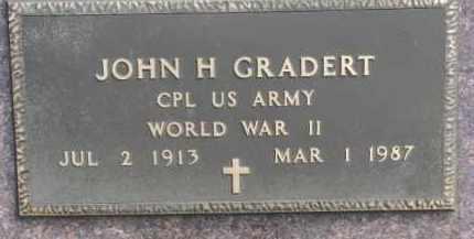 GRADERT, JOHN H. (WW II MARKER) - Dixon County, Nebraska | JOHN H. (WW II MARKER) GRADERT - Nebraska Gravestone Photos