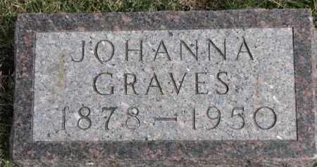 GRAVES, JOHANNA - Dixon County, Nebraska | JOHANNA GRAVES - Nebraska Gravestone Photos