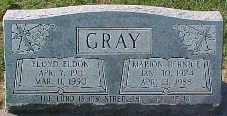 GRAY, FLOYD ELDON - Dixon County, Nebraska | FLOYD ELDON GRAY - Nebraska Gravestone Photos
