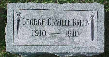 GREEN, GEORGE ORVILLE - Dixon County, Nebraska | GEORGE ORVILLE GREEN - Nebraska Gravestone Photos