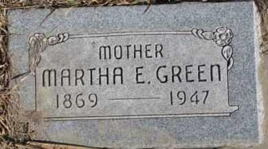 GREEN, MARTHA E. - Dixon County, Nebraska | MARTHA E. GREEN - Nebraska Gravestone Photos