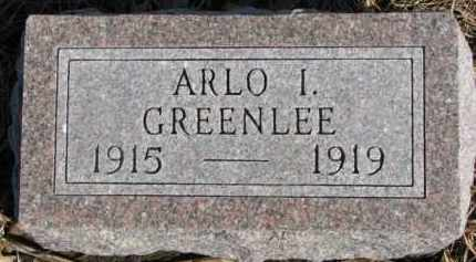 GREENLEE, ARLO I. - Dixon County, Nebraska | ARLO I. GREENLEE - Nebraska Gravestone Photos