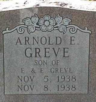 GREVE, ARNOLD E. - Dixon County, Nebraska   ARNOLD E. GREVE - Nebraska Gravestone Photos