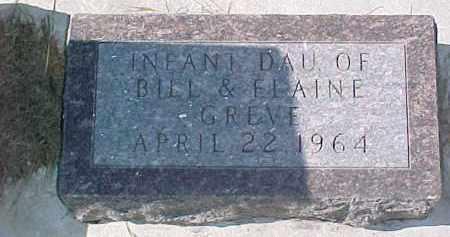 GREVE, INFANT - Dixon County, Nebraska | INFANT GREVE - Nebraska Gravestone Photos