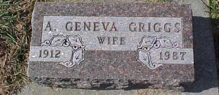 GRIGGS, A. GENEVA - Dixon County, Nebraska | A. GENEVA GRIGGS - Nebraska Gravestone Photos