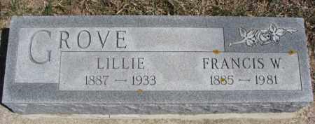 GROVE, LILLIE - Dixon County, Nebraska | LILLIE GROVE - Nebraska Gravestone Photos