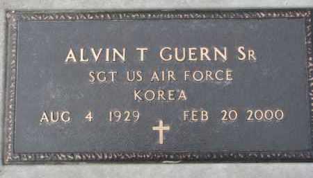 GUERN, ALVIN T. SR. (MILITARY MARKER) - Dixon County, Nebraska   ALVIN T. SR. (MILITARY MARKER) GUERN - Nebraska Gravestone Photos