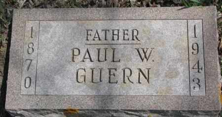 GUERN, PAUL W. - Dixon County, Nebraska | PAUL W. GUERN - Nebraska Gravestone Photos