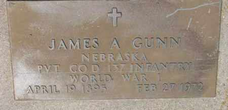 GUNN  (WW I MARKER), JAMES A. - Dixon County, Nebraska | JAMES A. GUNN  (WW I MARKER) - Nebraska Gravestone Photos