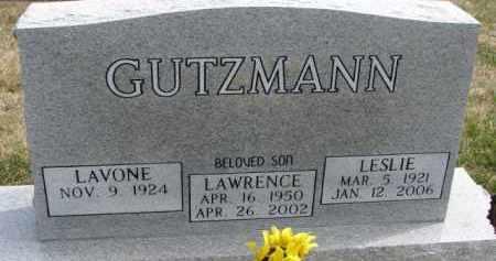 GUTZMANN, LESLIE - Dixon County, Nebraska | LESLIE GUTZMANN - Nebraska Gravestone Photos