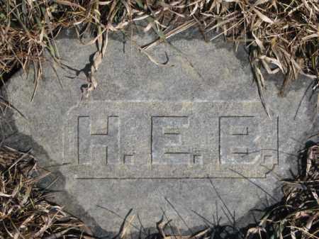 H.E.B, UNKNOWN - Dixon County, Nebraska | UNKNOWN H.E.B - Nebraska Gravestone Photos