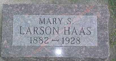 HAAS, MARY S. - Dixon County, Nebraska | MARY S. HAAS - Nebraska Gravestone Photos