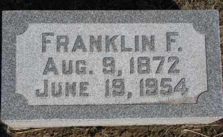 HAASE, FRANKLIN F. - Dixon County, Nebraska   FRANKLIN F. HAASE - Nebraska Gravestone Photos