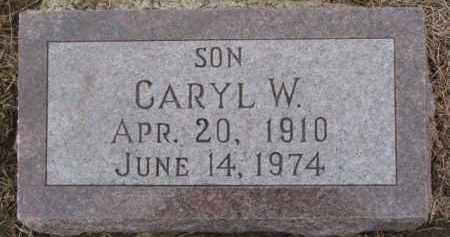 HABROCK, CARYL W. - Dixon County, Nebraska | CARYL W. HABROCK - Nebraska Gravestone Photos