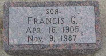 HABROCK, FRANCIS G. - Dixon County, Nebraska   FRANCIS G. HABROCK - Nebraska Gravestone Photos