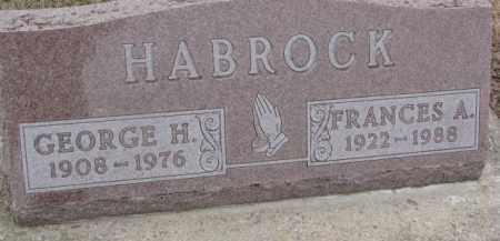 HABROCK, FRANCES A. - Dixon County, Nebraska | FRANCES A. HABROCK - Nebraska Gravestone Photos