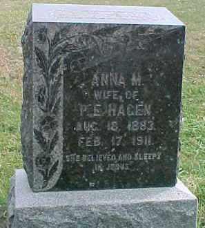 HAGEN, ANNA M. - Dixon County, Nebraska | ANNA M. HAGEN - Nebraska Gravestone Photos