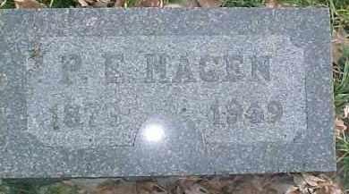 HAGEN, P.E. - Dixon County, Nebraska   P.E. HAGEN - Nebraska Gravestone Photos