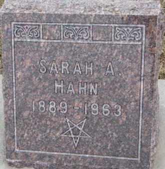 HAHN, SARAH A. - Dixon County, Nebraska | SARAH A. HAHN - Nebraska Gravestone Photos