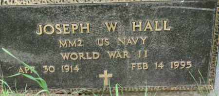HALL, JOSEPH W. (WW II MARKER) - Dixon County, Nebraska | JOSEPH W. (WW II MARKER) HALL - Nebraska Gravestone Photos