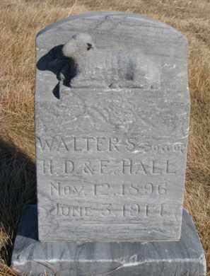 HALL, WALTER S. - Dixon County, Nebraska | WALTER S. HALL - Nebraska Gravestone Photos