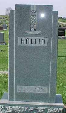 HALLIN, ALICE - Dixon County, Nebraska | ALICE HALLIN - Nebraska Gravestone Photos