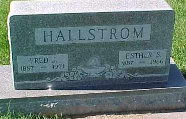 HALLSTROM, ESTHER S. - Dixon County, Nebraska | ESTHER S. HALLSTROM - Nebraska Gravestone Photos