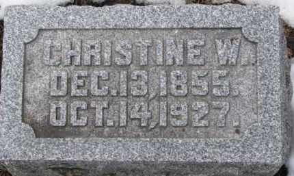 HANGMAN, CHRISTINE W. - Dixon County, Nebraska   CHRISTINE W. HANGMAN - Nebraska Gravestone Photos
