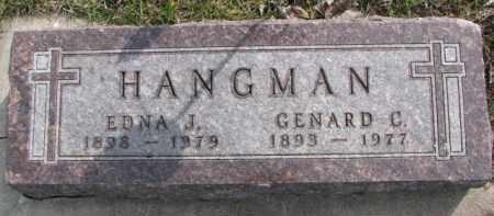 HANGMAN, GENARD C. - Dixon County, Nebraska | GENARD C. HANGMAN - Nebraska Gravestone Photos