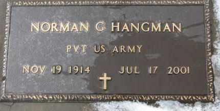 HANGMAN, NORMAN G. (MILITARY MARKER) - Dixon County, Nebraska | NORMAN G. (MILITARY MARKER) HANGMAN - Nebraska Gravestone Photos