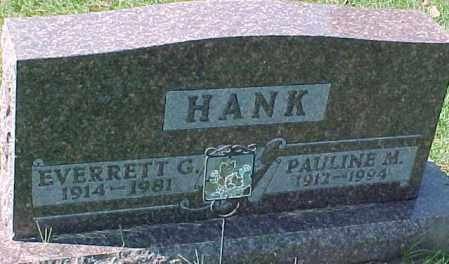 HANK, EVERRETT G. - Dixon County, Nebraska | EVERRETT G. HANK - Nebraska Gravestone Photos