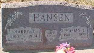 HANSEN, HARRY F. - Dixon County, Nebraska | HARRY F. HANSEN - Nebraska Gravestone Photos