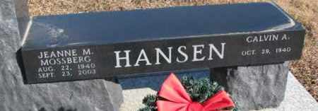MOSSBERG HANSEN, JEANNE M. - Dixon County, Nebraska | JEANNE M. MOSSBERG HANSEN - Nebraska Gravestone Photos