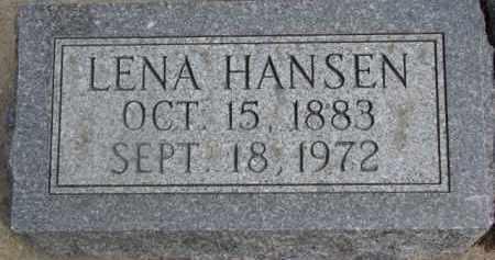 HANSEN, LENA - Dixon County, Nebraska   LENA HANSEN - Nebraska Gravestone Photos