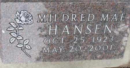HANSEN, MILDRED MAE - Dixon County, Nebraska | MILDRED MAE HANSEN - Nebraska Gravestone Photos