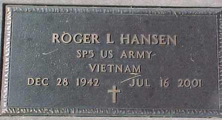 HANSEN, ROGER L. (VIETNAM MARKER) - Dixon County, Nebraska | ROGER L. (VIETNAM MARKER) HANSEN - Nebraska Gravestone Photos