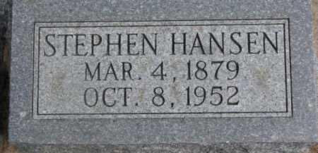 HANSEN, STEPHEN - Dixon County, Nebraska   STEPHEN HANSEN - Nebraska Gravestone Photos