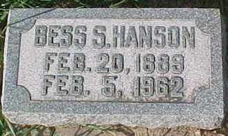 HANSON, BESS S. - Dixon County, Nebraska | BESS S. HANSON - Nebraska Gravestone Photos
