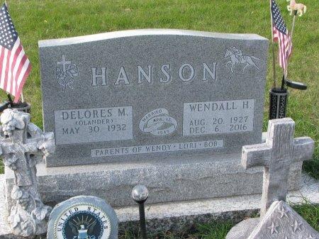 HANSON, WENDALL HALL - Dixon County, Nebraska | WENDALL HALL HANSON - Nebraska Gravestone Photos