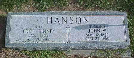 KINNEY HANSON, EDITH - Dixon County, Nebraska   EDITH KINNEY HANSON - Nebraska Gravestone Photos