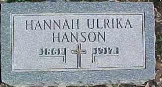 HANSON, HANNAH ULRIKA - Dixon County, Nebraska | HANNAH ULRIKA HANSON - Nebraska Gravestone Photos
