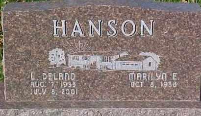 HANSON, L. DELANO - Dixon County, Nebraska   L. DELANO HANSON - Nebraska Gravestone Photos