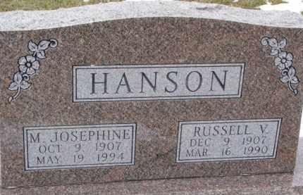 HANSON, RUSSELL V. - Dixon County, Nebraska | RUSSELL V. HANSON - Nebraska Gravestone Photos