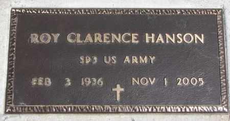 HANSON, ROY CLARENCE (MILITARY MARKER) - Dixon County, Nebraska   ROY CLARENCE (MILITARY MARKER) HANSON - Nebraska Gravestone Photos