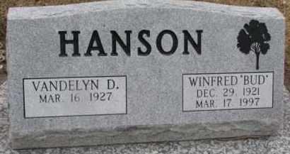 HANSON, VANDELYN D. - Dixon County, Nebraska | VANDELYN D. HANSON - Nebraska Gravestone Photos