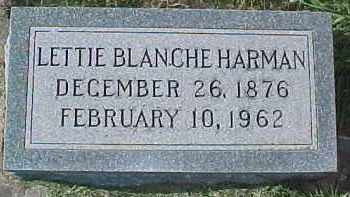 HARMON, LETTIE BLANCHE - Dixon County, Nebraska | LETTIE BLANCHE HARMON - Nebraska Gravestone Photos