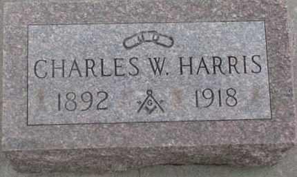 HARRIS, CHARLES W. - Dixon County, Nebraska   CHARLES W. HARRIS - Nebraska Gravestone Photos