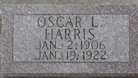HARRIS, OSCAR L. - Dixon County, Nebraska | OSCAR L. HARRIS - Nebraska Gravestone Photos