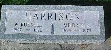 HARRISON, WM. RUSSELL - Dixon County, Nebraska | WM. RUSSELL HARRISON - Nebraska Gravestone Photos